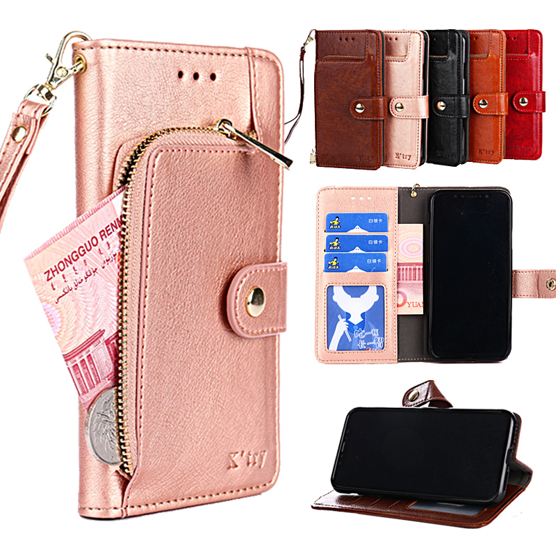 Luxury Zipper wallet Flip Phone Bag PU Leather Case For iPhone XR XS Max X 8 7 6 6s Plus For iphone 11 11 Pro Max Stand Cover in Wallet Cases from Cellphones Telecommunications