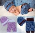 New Handmade 100% cotton Crochet Baby hat & Pants 2pcs baby set . Newborn crochet Photo Prop . baby newsboy caps , baby pants