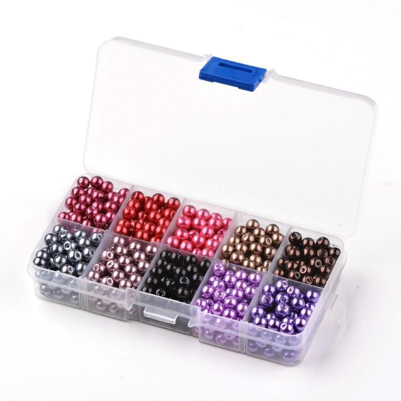 6mm 550 unids Color Mezclado Redondo Perlas de Perlas de Imitación - Bisutería - foto 6