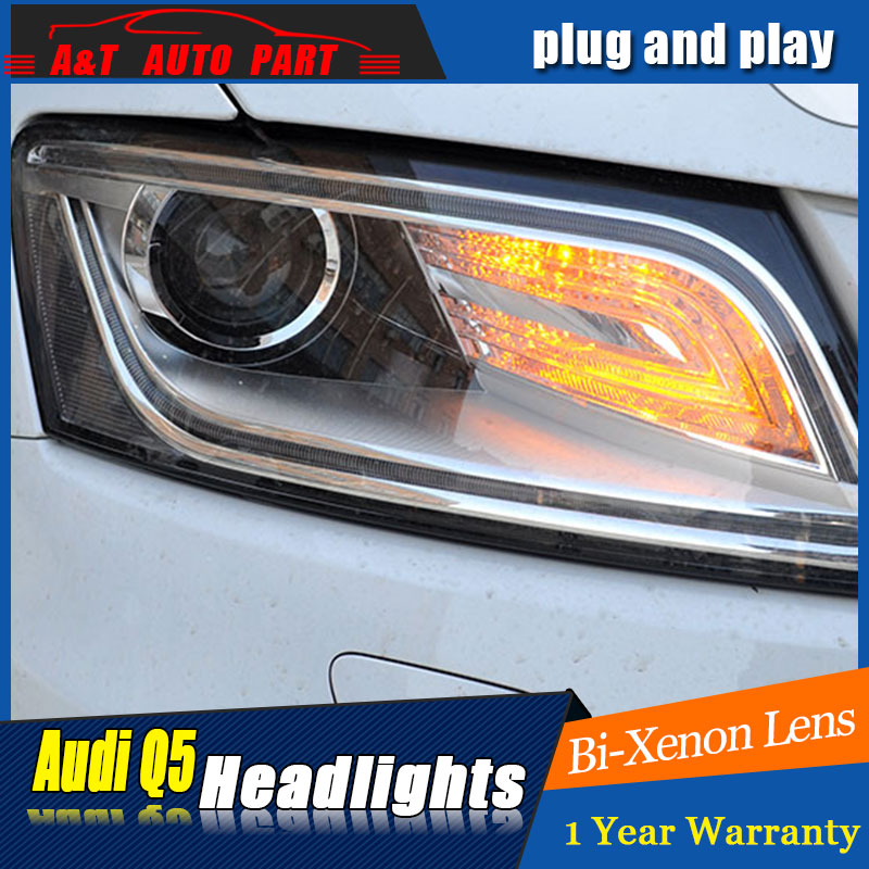 Auto Lighting Style LED Head Lamp for AU DI Q5 headlights 1999 -2016 for Q5 LED angle eyes drl H7 hid Bi-Xenon Lens low beam auto part style led head lamp for lexus is250 led headlights 2006 2009 for is250 drl h7 hid bi xenon lens angel eye low beam