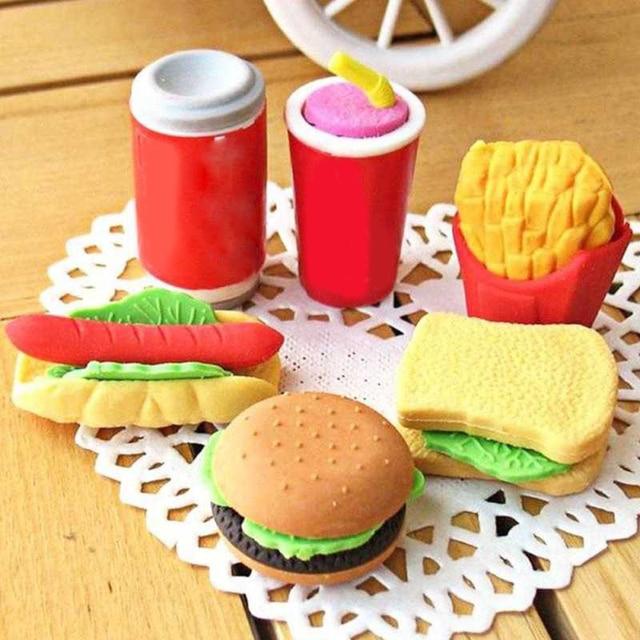 Cantik Mini Cepat Hamburger Coke Kentang Goreng Sandwich Makanan