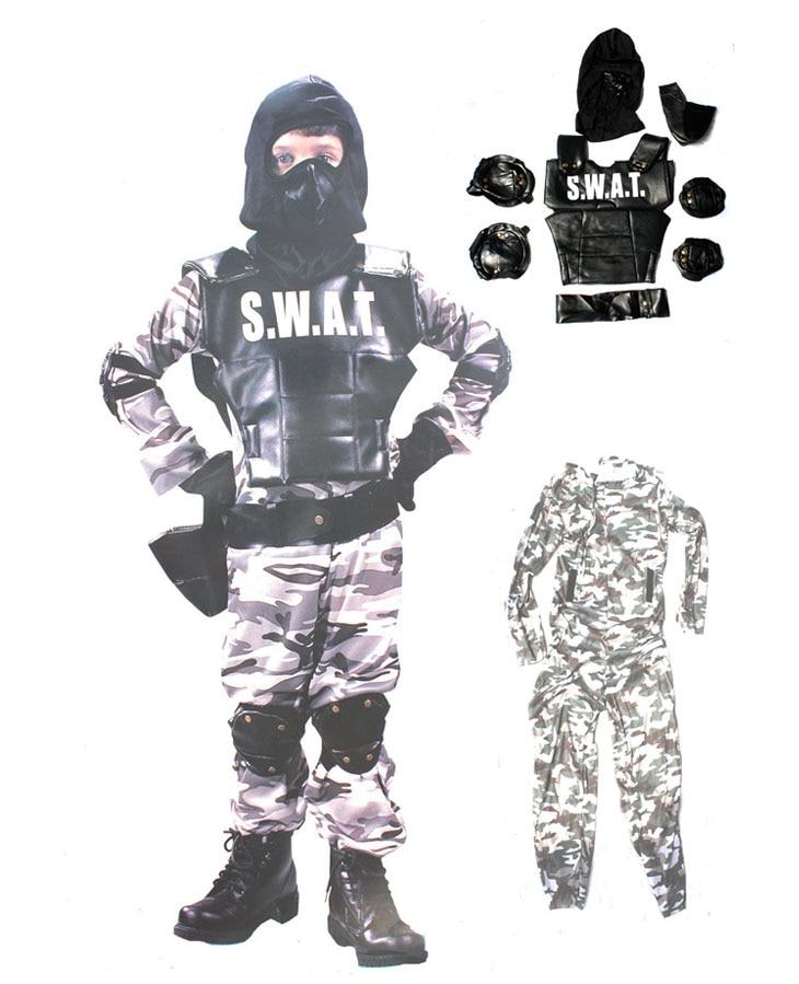 metà prezzo goditi il prezzo più basso gamma esclusiva US $32.5  Dei bambini di trasporto libero del partito di halloween  prestazioni SWAT Speciale Armi E Tattiche poliziotto abbigliamento fireman  vestito ...