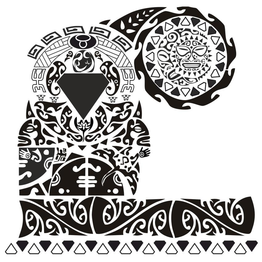 Scapula Tattoo Waterproof Temporary Tattoos men Design tatoo Make Up Body Art Henna Tattoo Stickers tatuajes cool tatoo sleeve original 3d individuality design waterproof temporary tattoo stickers