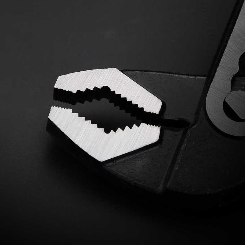 """8 """"/10""""/12 """"chaves rápidas resistentes da tubulação grande abertura universal ajustável braçadeira de tubulação de água alicate ferramentas manuais para encanador"""