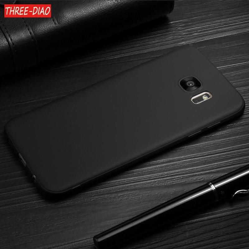 Matte-Case Silicone-Rubber S7-Edge Black S9 Prime Samsung Galaxy for S8 S6 S3 S4 A3 A5