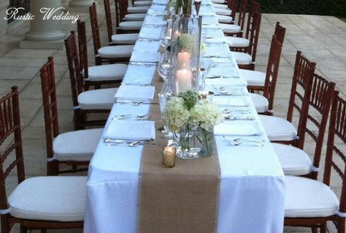 rustic burlap wedding table table runners12 inches wide fall wedding - Wedding Table Runners