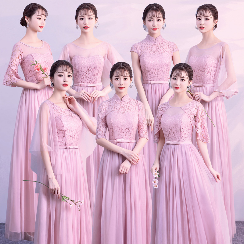 Sexy Plus Size Tulle Elegant Dress Women For Guest Wedding Party A-Line Ladies Pink Junior Long Prom Dresses Champagne Vestido