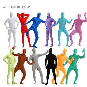 Image 1 - Костюм зентай из лайкры для взрослых, костюмы на Хэллоуин для мужчин, облегающие костюмы из второго кожи, юбка из спандекса, костюмы для косплея