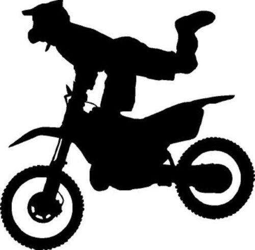 Motocrossvinyl Wall Sticker Balap Stunt Sepeda Motor Trail Biker