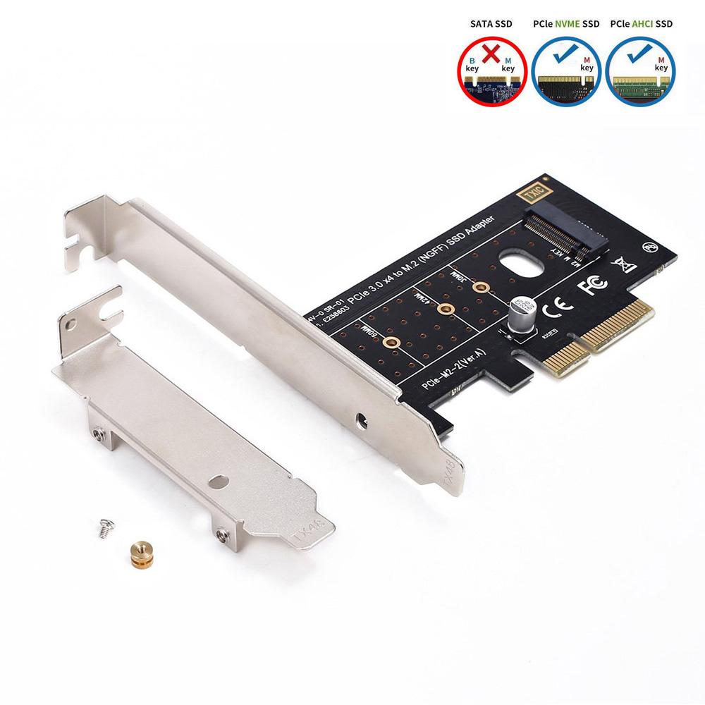 Ngff M 2 Nvme Ssd Untuk Pci Express Pcie 3 0x4 Host Controller Kartu Ekspansi M Kunci Ssd Adaptor Kartu Dengan Profil Rendah Bracket Add On Cards Aliexpress