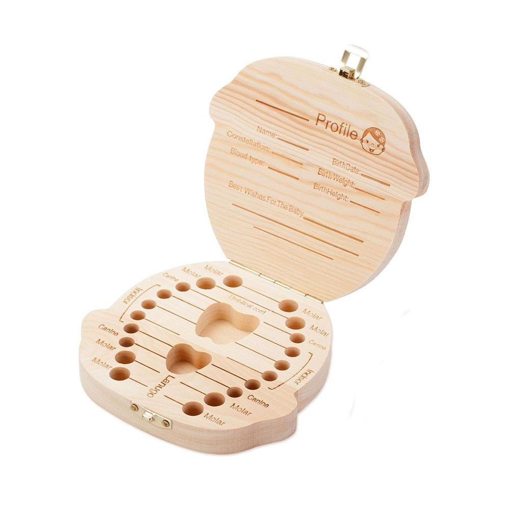 Baby Umbilical Cord Lanugo Hair Deciduous Tooth Collection Box Wooden Memorial Box Baby Growth Memorial