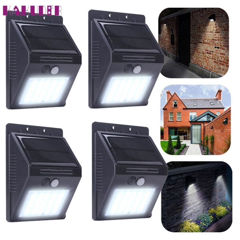 ФОТО High Quality  20 LED Solar Power PIR Motion Sensor Wall Light Outdoor Garden Waterproof Lamp
