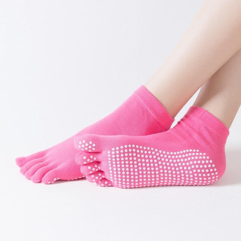 High Quality Cotton Gymnastics Socks Five-toe Anti-skid Breathable Socks Climbing Camping Hiking Running Cycling Yoga Socks