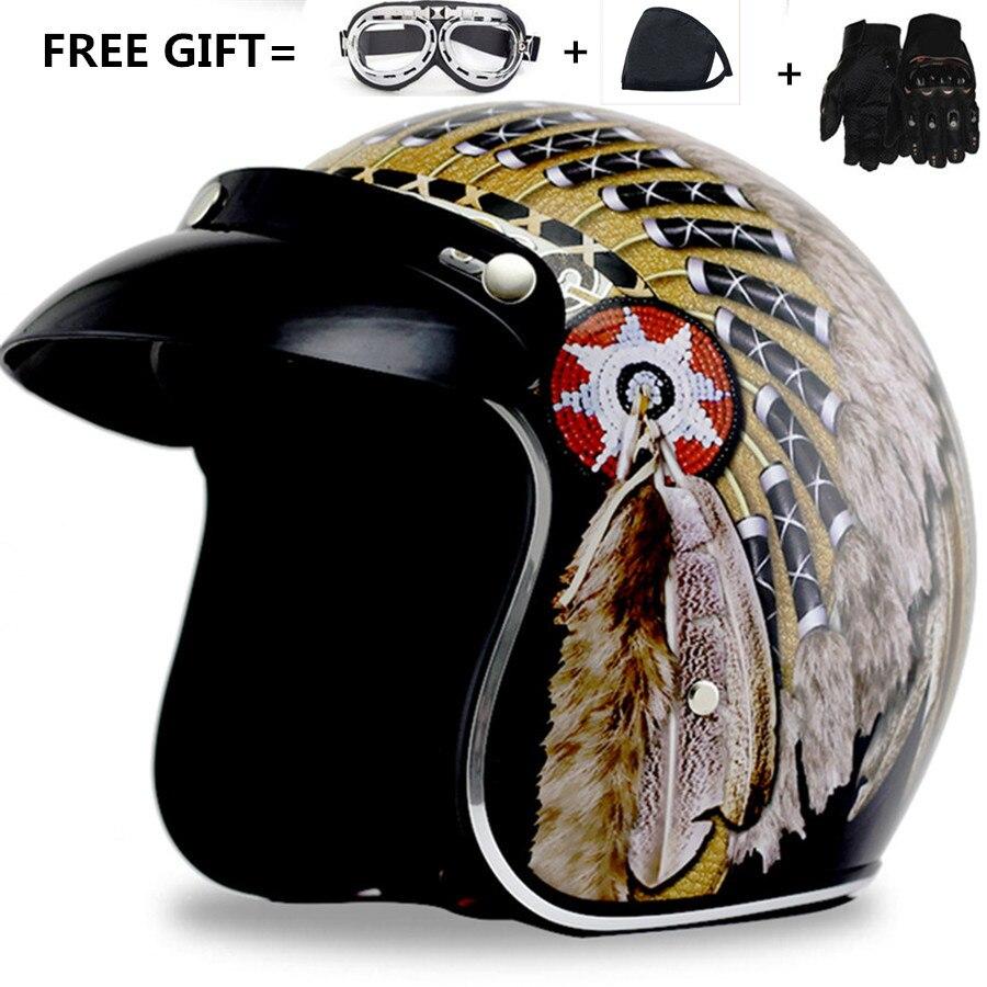 <font><b>Hot</b></font> <font><b>sale</b></font> open face <font><b>Motorcycle</b></font> Helmet Moto casco With goggles and <font><b>gloves</b></font> gift Safety <font><b>Racing</b></font> S M L XL XXL <font><b>Adult</b></font> harley helmet