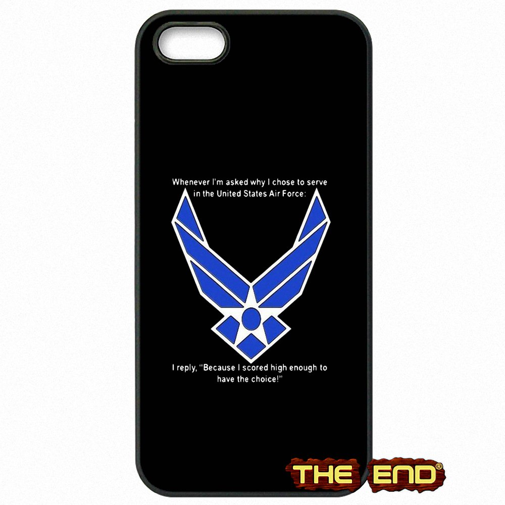 Us Air Force Mom Usaf Symbol Print Hard Phone Case For Iphone X 4 4s