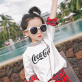 2017 spring section of the new girl plaid skirt + shirt T-shirt set of two free shipping