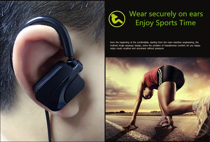 Bluetooth Sports Headphones headset  HD Stereo music headphone voice control  wireless Handsfree sweatproof earphone (2)