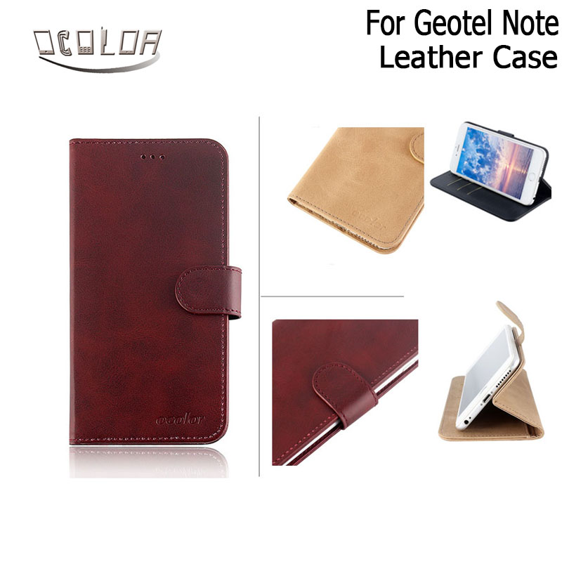 ocolor For Geotel Note Flip Leather Case With Card Wallet