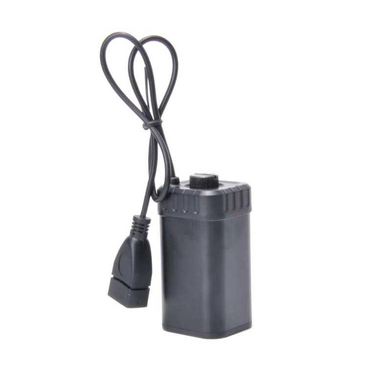 Hurtownie dropshipping 4x uchwyt baterii aa zestaw opakowanie na power bank zasilania dla DC 5V USB wentylator z lampką led F42D