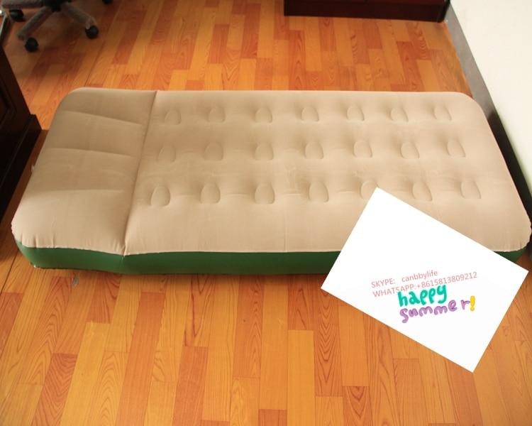 Goedkope prijs enkele size opblaasbare air matras voor camping