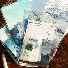 40 шт./упак. Творческий журнал декоративные Стикеры ярлык дневник стационарный Японский деко фотография наклейки в альбом хлопья Скрапбукинг