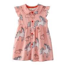 Girls Unicorn Dress Summer Cute Princess Girl Unicorn Floral Dress Children Clothing Kids Stripes Polka Dot Flower Dress