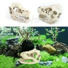 1Pc New Style Realistic Tyrannosaurus Scale Dinosaur Skull Model Collectable aquarium decor Ornament