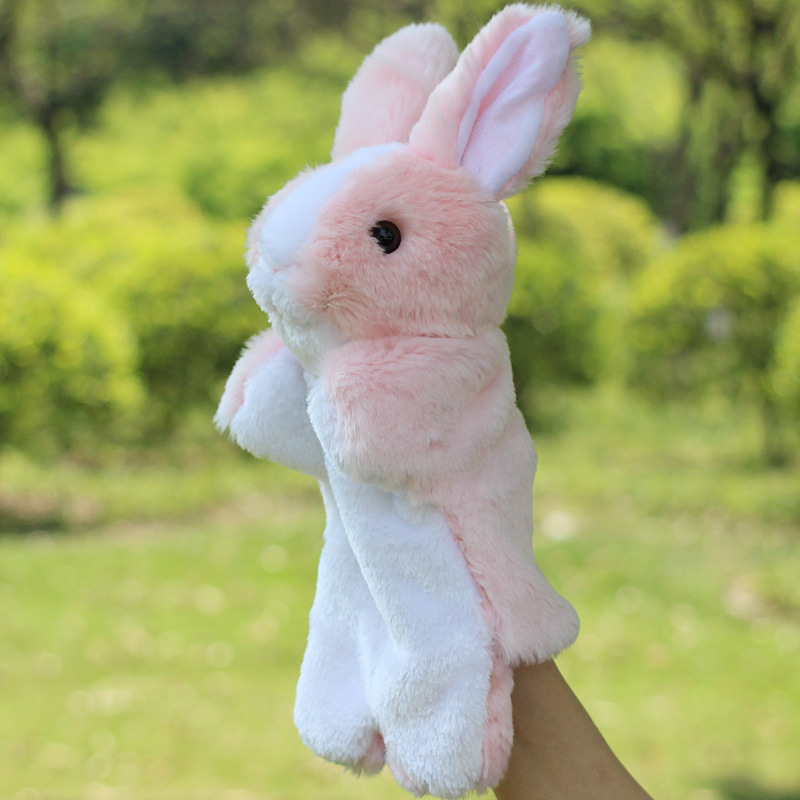 Animal-Plush-Hand-Puppet-Doll-Toys-Pig-Cat-Owl-Monkey-Dog-Rabbit-Shark-Bear-Puppet-Kids-Soft-Kukla-Toys-Marionnette-4