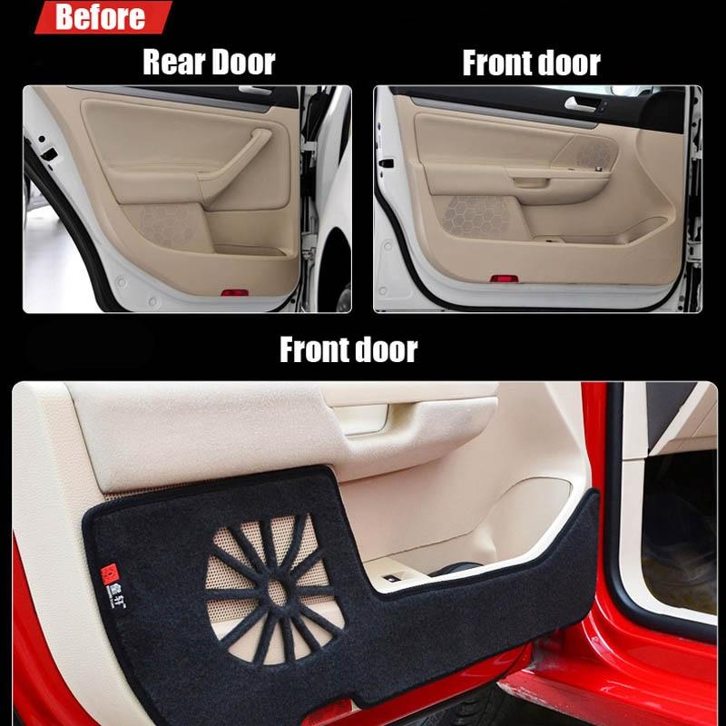 4 шт. тканевые коврики для защиты дверей анти удар декоративные колодки для VW Sigitar 2011