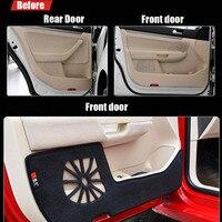 4pcs Fabric Door Protection Mats Anti kick Decorative Pads For VW Sigitar 2011
