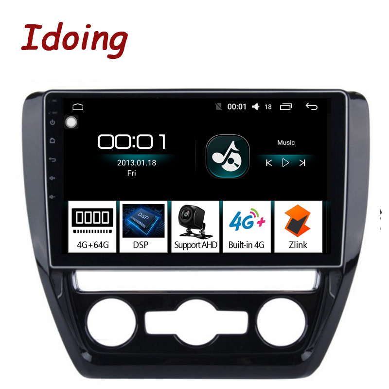 Idoing 10 2 4G 64G Octa Core Car Android8 1 Radio Vedio Multimedia Player Fit VOLKSWAGE
