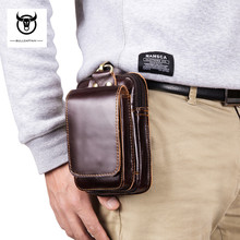 Fashion Genuine Leather Waist Pack Men Fanny Bags Big Capacity Purse Cow Belt Small Zipper Multifunctional