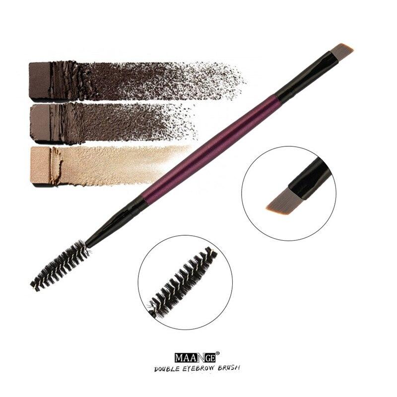 Maange Eyebrow Makeup Brush Wood Handle Double Sided Eyebrow Flat Angled Brushes Eye Brow Makeup Brushes Professional #4