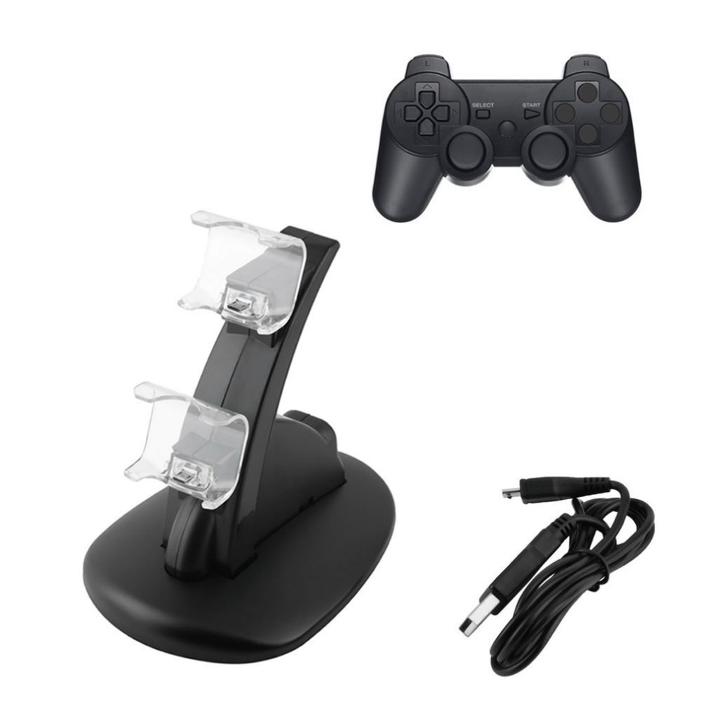 Original Dua USB Charging Socket Kit Charger Dock Stand Cradle For PS4 Console Controller Play Station Game Pad with USB Cable