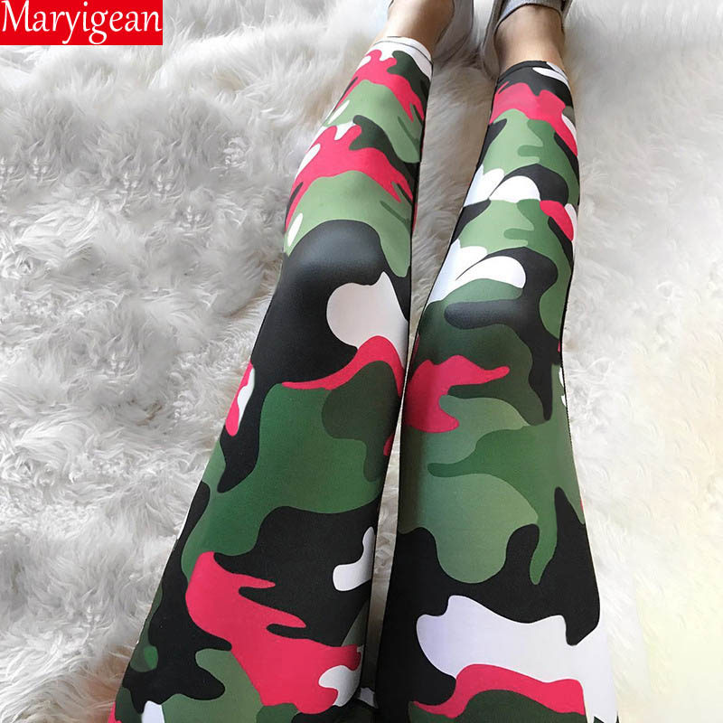 Maryigean Classic Camouflage   Leggings   Push Up Fitness   Leggings   High Waist Workout   Legging   For Women Casual Quick Dry Pants