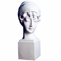 British Girl Statue Bust Figure Half Length Photo Or Portrait Continental Home Decorations Resin Art Craft Creative Gift L2705