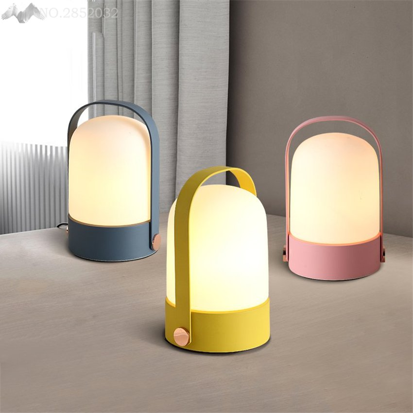 LFH Nordic modern minimalist creative table lamp macarons LED iron table light for bedroom bedside study home lighting fixturesLFH Nordic modern minimalist creative table lamp macarons LED iron table light for bedroom bedside study home lighting fixtures