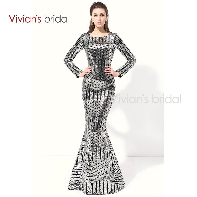 Vivian de Noche Formal de Los Vestidos de Novia de Manga Larga Vestidos de Lente