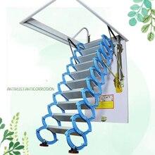 """Сверхпрочная стальная металлическая чердак """"настенная"""" Лестница чердачная складная лестница дизайн чердак """"настенная"""" лестница лестницы углеродистая сталь Синяя"""