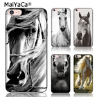 MaiYaCa black silicone soft TPU phone case for iphone 5s Case The latest and most fashionable horse coverfor iphone 5 5s se case