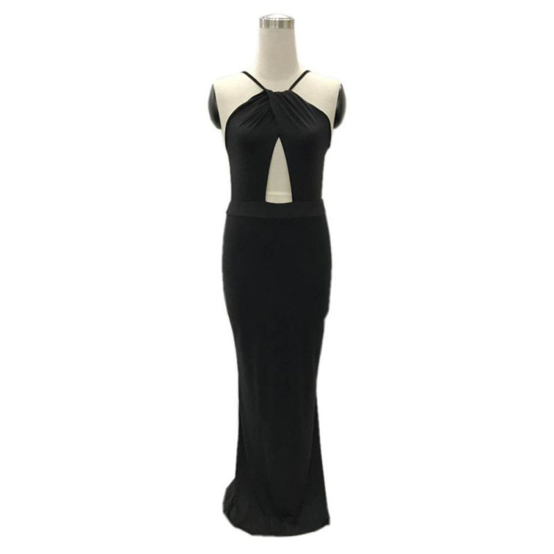 2018 Fashion Sexy Women Bandage Bodycon Dress Party Club Wear Long Dress Sleeveless Summer Strapless Maxi Dresses