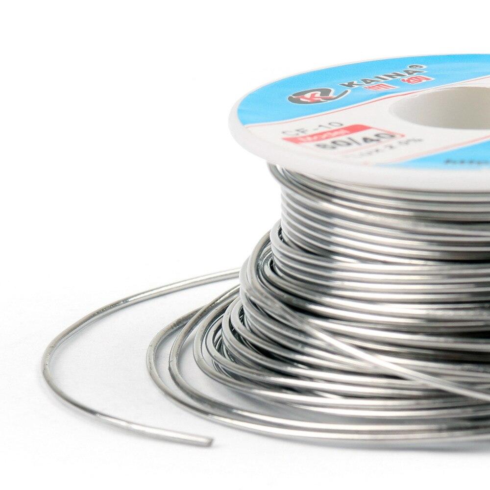 Areyourshop Verkauf Hohe Qualität 1,0mm 100g 60/40 Kolophonium Kern Zinn Blei Solder Draht Löten Schweißen Flux 2.0% Eisen draht Reel