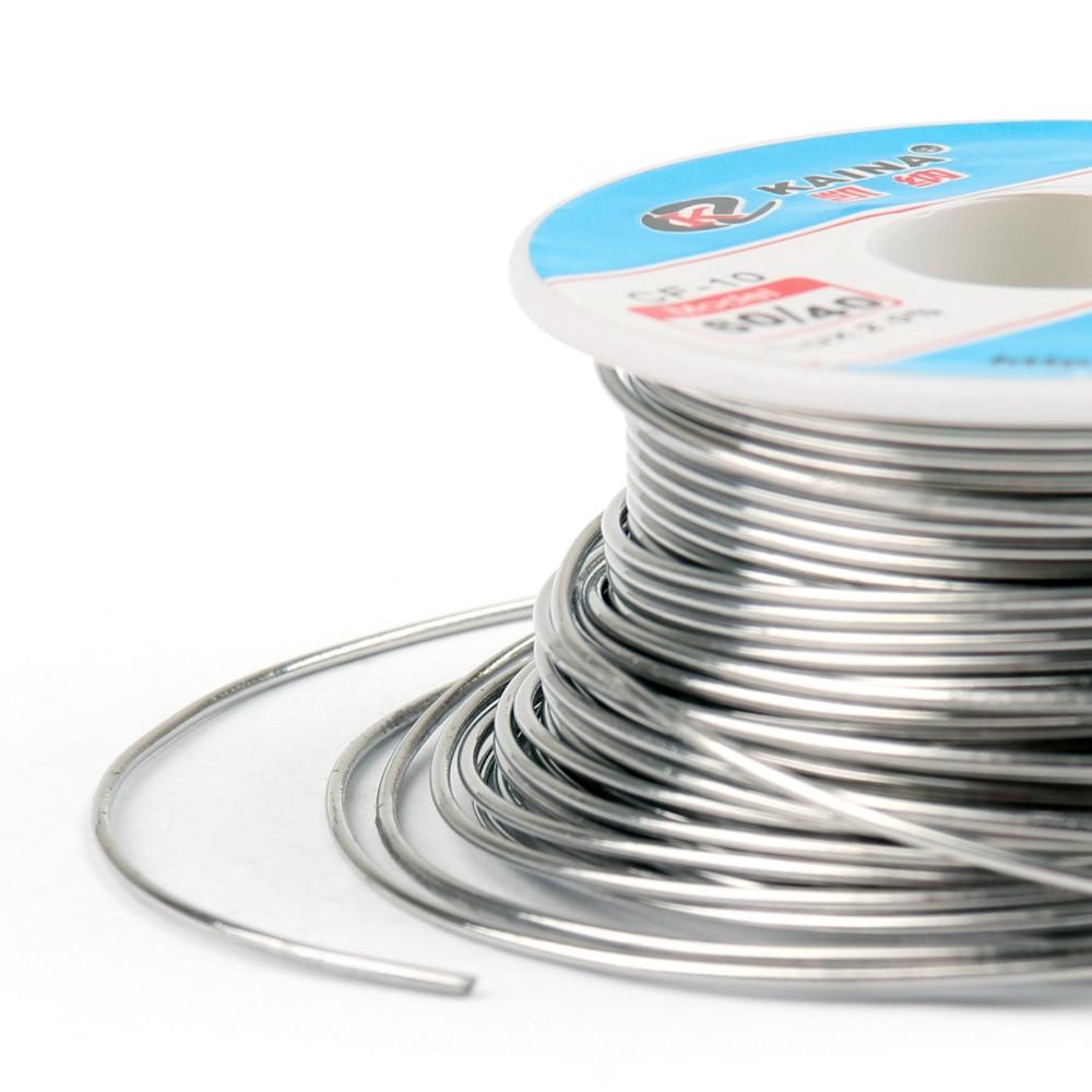Areyourshop venta alta calidad 1,0mm 100g 60/40 Rosin Core estaño plomo Alambre de soldadura Flux 2.0% hierro carrete de alambre