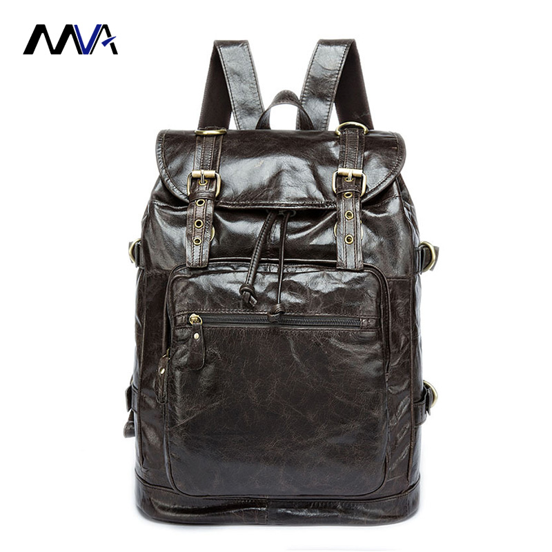MVA Genuine Leather Men Backpacks Man Women Travel Bag function bags Backpack Male women Backpack Schoolbag Business Backpacks 100% genuine leather men backpack large capacity man travel bags high quality male business bag for man computer laptop bag
