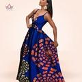 Brw africano vestidos para las mujeres sexy dress v profundo maxi dress vestidos de fiesta sexy dress plus size 6xl ropa africana wy799