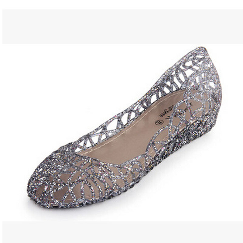 Nice Woman Sandals Sweet Cut-out Jelly Sandal Summer Soft Breathable Flats Women Flat Shoes Woman 6 Colors Size 25-61 P5d18