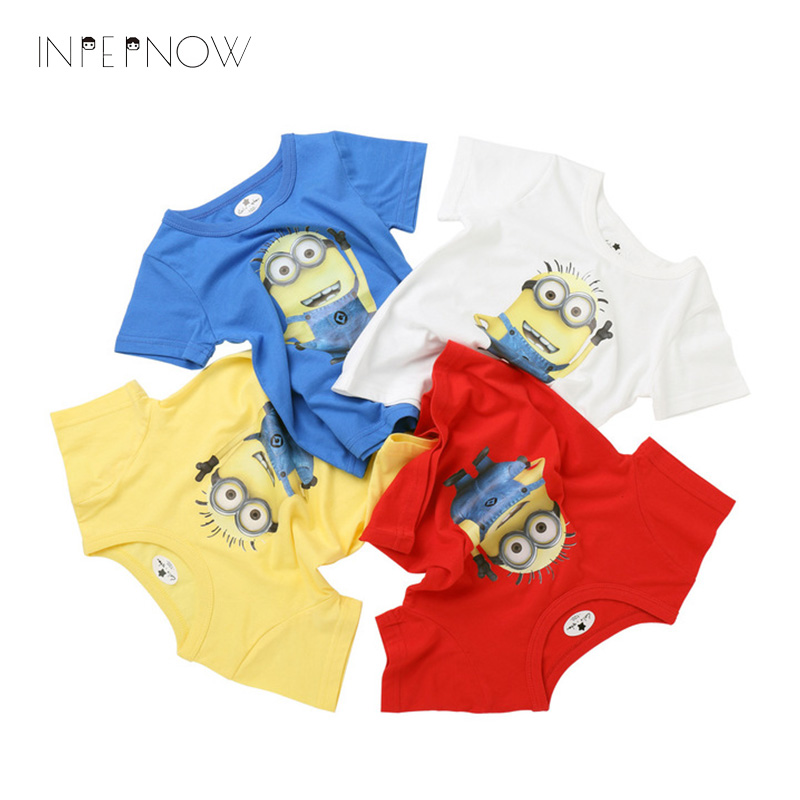 INPEPNOW Boys Children T Shirt Cotton Cute Minion Cartoon Short Sleeves T-Shirts Summer Top Tees Girls Kids Clothes DX-CZX96 чехол для ipad pro 10 5 cellular line folioipadpro105k