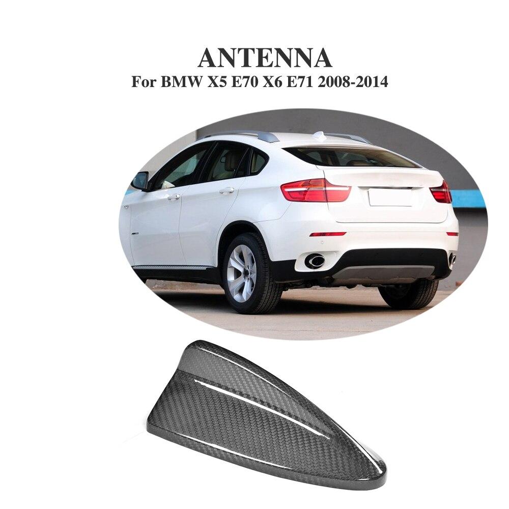Carbon Fiber Auto Shark Fin Roof Antenna Trim for BMW X5 E70 X6 E71 2008 2014 Car Styling