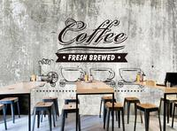 Custom Food Shop Wallpaper Old Cement Wall Coffee 3D Retro Murals For The Cafe Restaurant Hotel