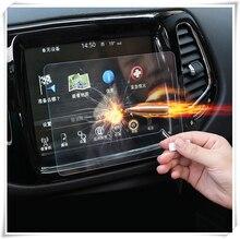 Для Jeep Compass 2018 2017 gps навигации закаленное стекло экран 8,5 дюймов Защитная крышка Защитная плёнки стайлинга автомобилей